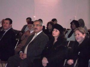 التقافي لسفارة مصر العربية في مقدمة الحضور بالحفل التكريمي للكاتب محمد أديب السلاوي بمسرح محمد الخامس.jpg
