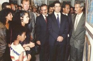 رفقة عامل مدينة المحمدية في مهرجانها التشكيلي سنة 1991.jpg