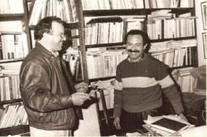 رفقة الفنان التشكيلي محمد الرايس الرباط سنة 1991.jpg