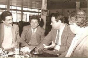 رفقة الفنانين عبد الهادى بلخياط و إدريس التادلي سنة 1991.jpg