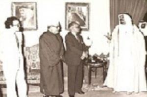 رفقة مفكرين عرب يستقبلون من طرف أمير الرياض سنة 1983.jpg